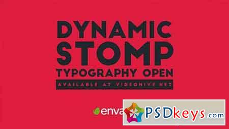 Dynamic Stomp Typography Open 19994003 - After Effects Projects
