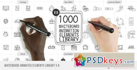 Whiteboard Animated Elements Library V6 13745607 - After Effects Projects