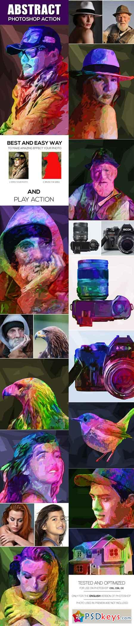 Abstract Photoshop Action Photo Effects