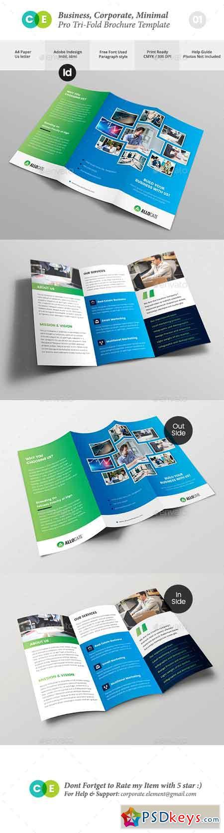 Business Clean Corporate Pro Tri-Fold Brochure V01 20089081