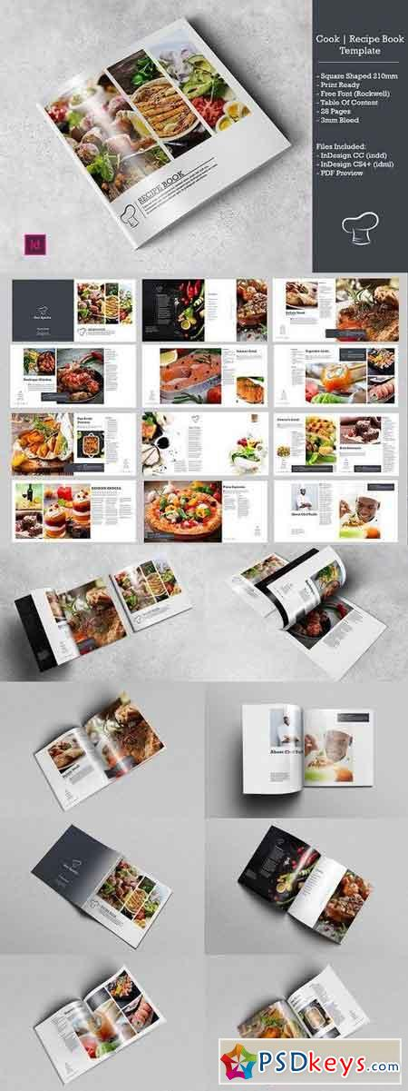 Recipe Cook Book Template 1286374