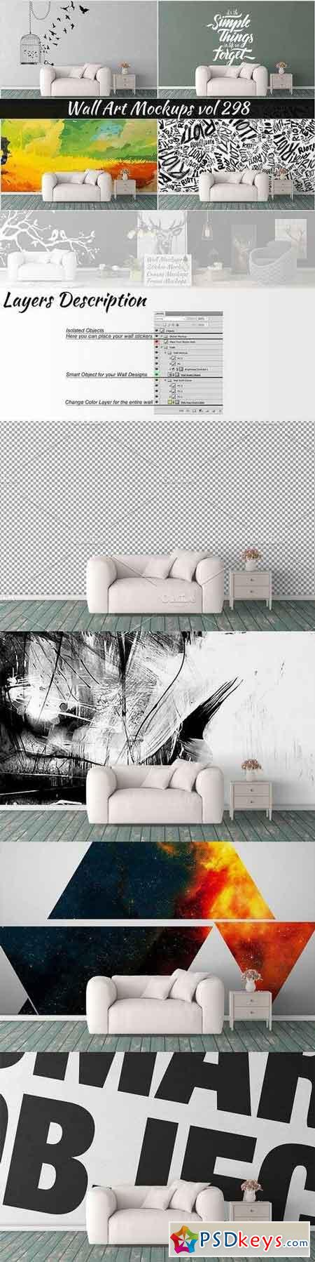 Wall Mockup - Sticker Mockup Vol 298 1150566