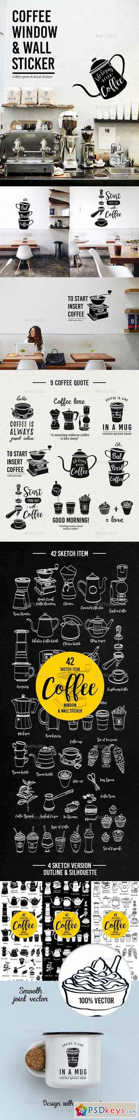 Coffee Window and Wall Stickers 20159950
