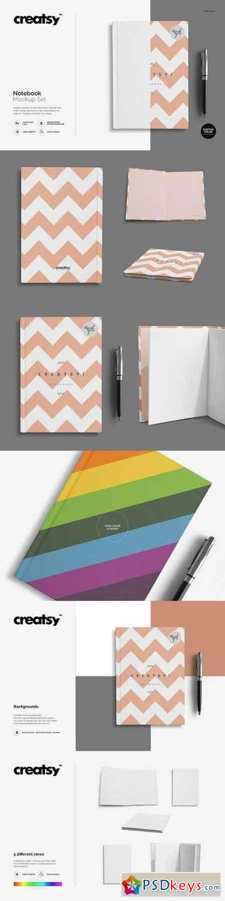 Notebook Mockup Set 1286533