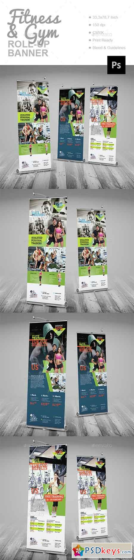 Fitness & Gym Roll-Up Banner 14880884