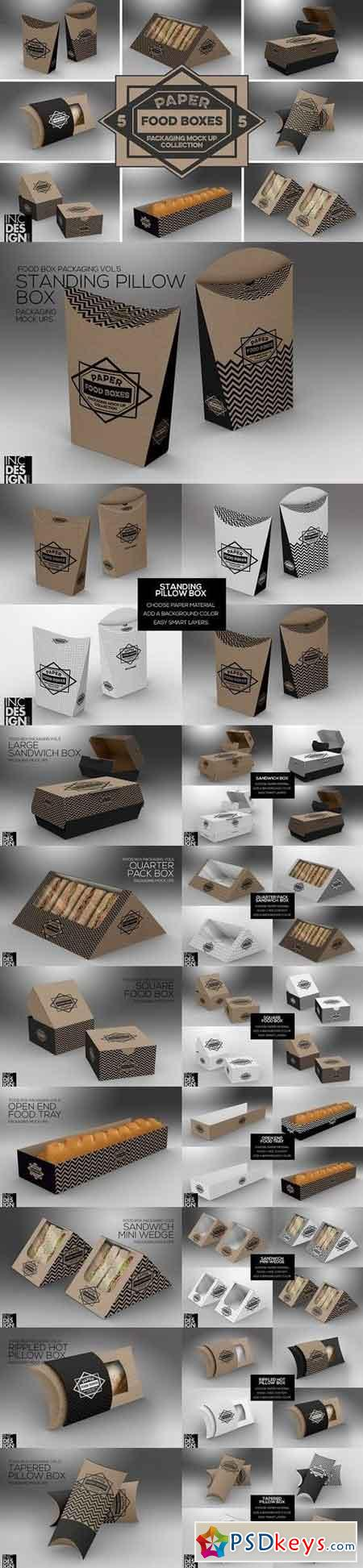 VOL.5 Food Box Packaging Mock Ups 1286576