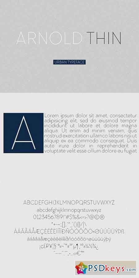 Arnold Thin Sans Serif Font 1502250