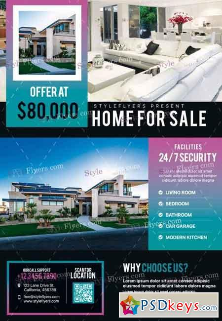 Real estate psd flyer template 16 free download for Real estate brochure templates psd free download