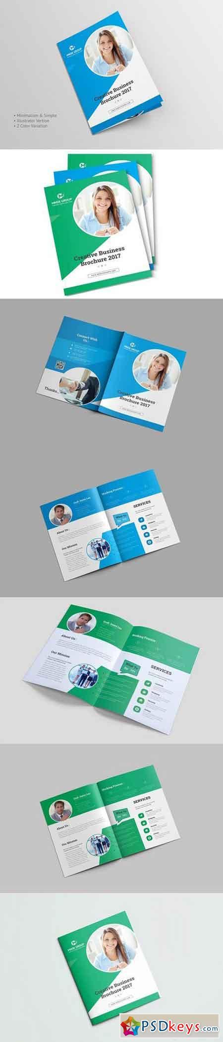 Bi fold brochure 1498719 free download photoshop vector for Bi fold brochure template illustrator