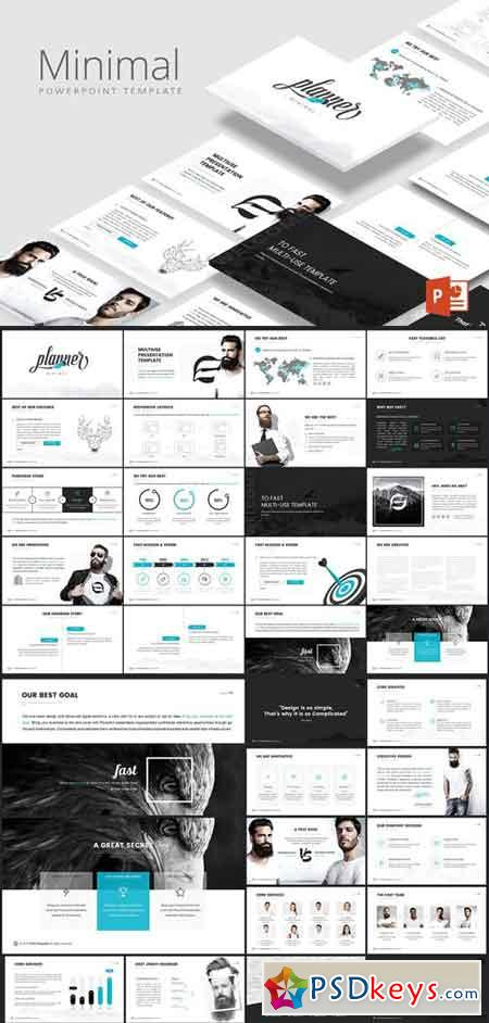 Minimal powerpoint template free download photoshop vector stock minimal powerpoint template toneelgroepblik Choice Image