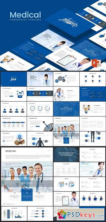 Medical Powerpoint Template Free Download Photoshop Vector Stock