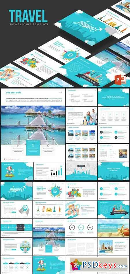 Travel powerpoint template free download photoshop vector stock travel powerpoint template toneelgroepblik Image collections