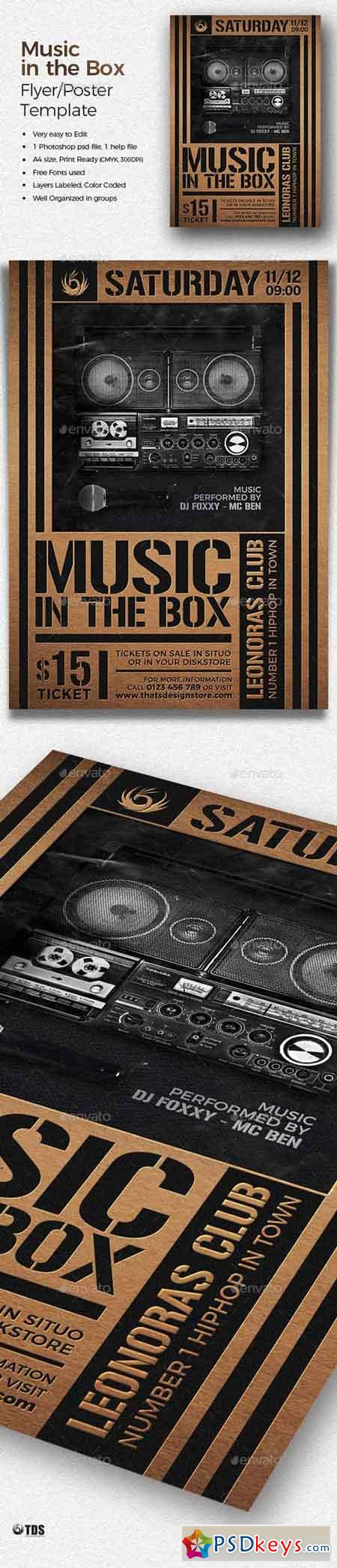 Music in the Box Flyer Template 20158196