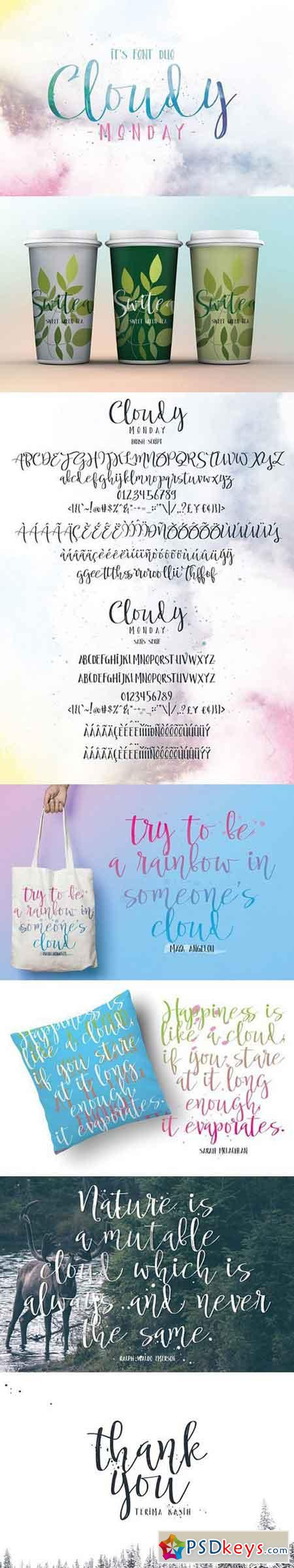Cloudy Monday Font Duo 1502890