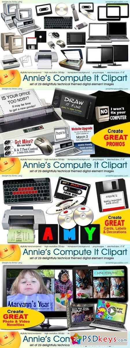 Annie's Compute It Clipart 1294199