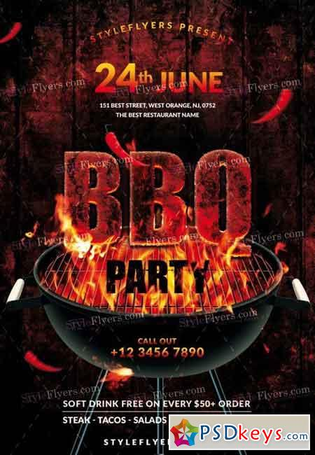 bbq psd flyer template 6  u00bb free download photoshop vector