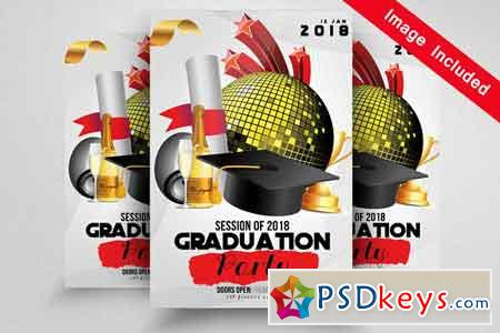 Graduation Party Flyer Template 1592172