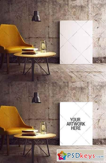 Canvas Mockup Industrial Style 974585