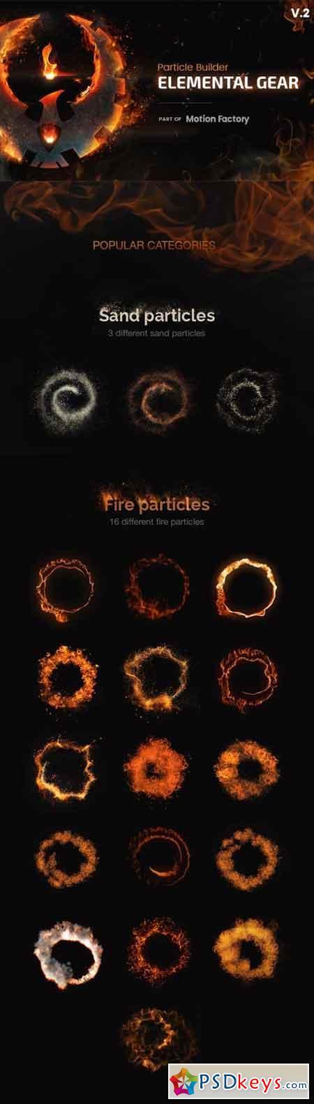 Particle Builder Elemental Gear Fire Sand Smoke Particular