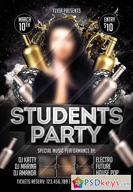 Students Night - Premium Flyer Template