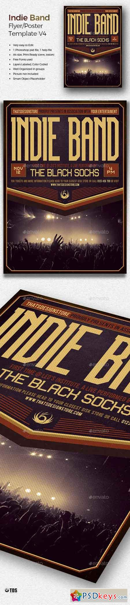 Indie Band Flyer Template V4 20098693