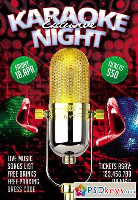 Exclusive Karaoke Night - Premium Flyer Template » Free Download