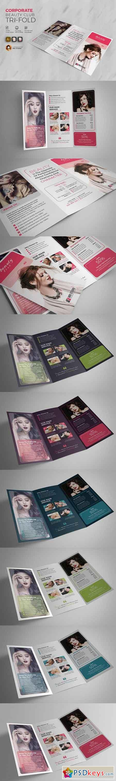 Corporate Beauty Club Tri-Fold 1516222
