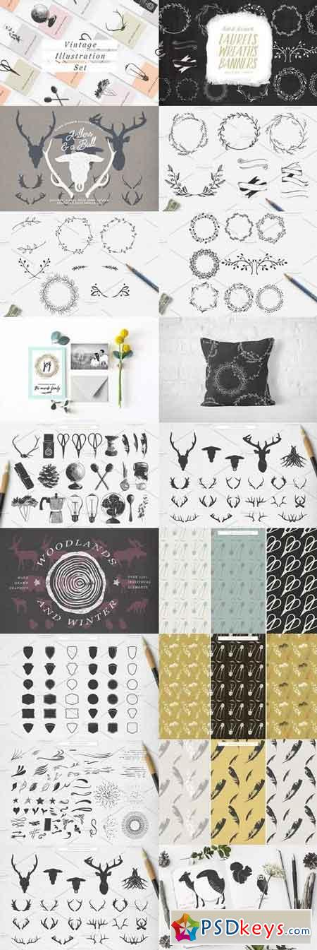 The Hand Drawn Vector Bundle 1194777