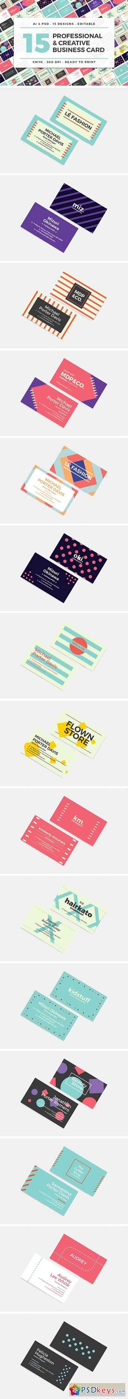 15 Creative Business Cards Bundle 1528834