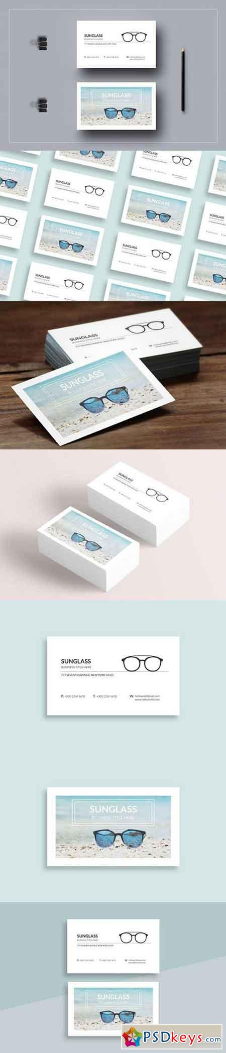 Sun Glass Business Card Template 1529432