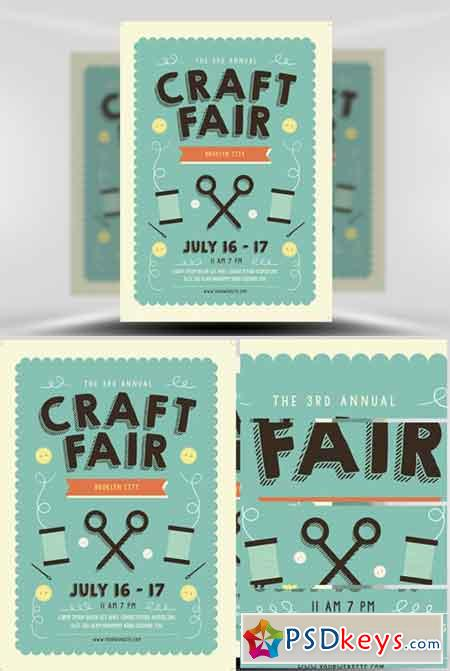 Craft Fair Flyer Template Free Download Photoshop Vector Stock