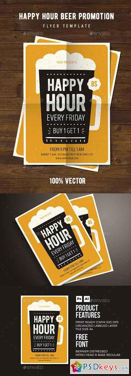 Happy Hour Beer Promotion Flyer 03 18136326