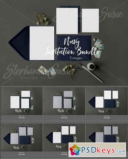 Navy Invitation Lay Bundle 1309048