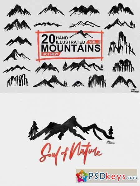 Hand Illustrated Mountain Vol. 2 1544358