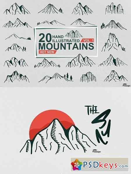 Hand Illustrated Mountain Vol. 1 1544357