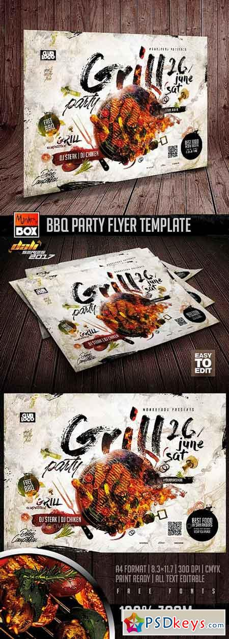 BBQ Party Flyer Template 20001974