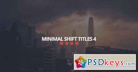 Minimal Shift Titles 4 37836 - After Effects Projects