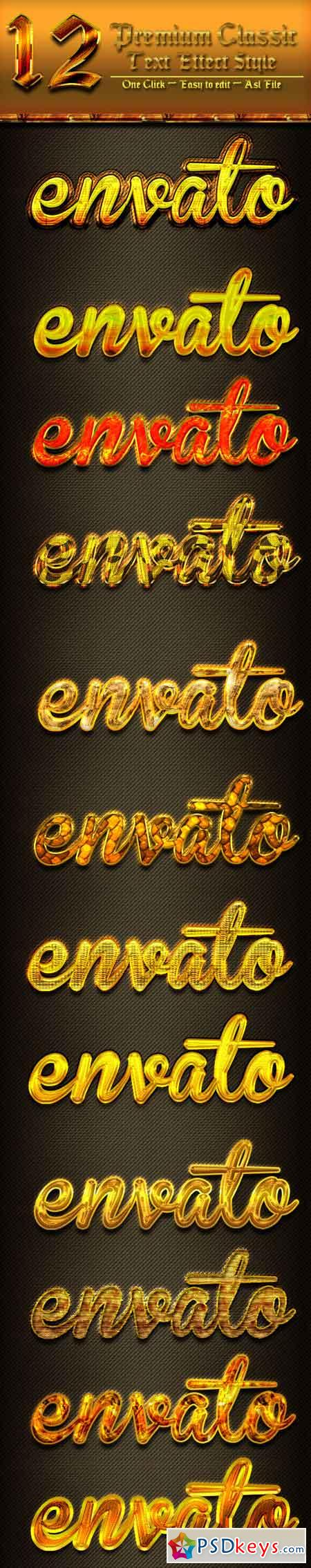 12 Photoshop GOLD Text Effect Styles Vol 26 20167018