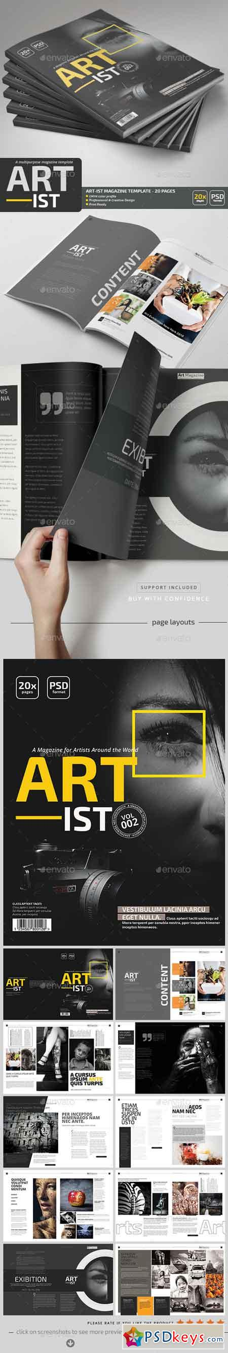 Art-ist Magazine Template V.2 20185377