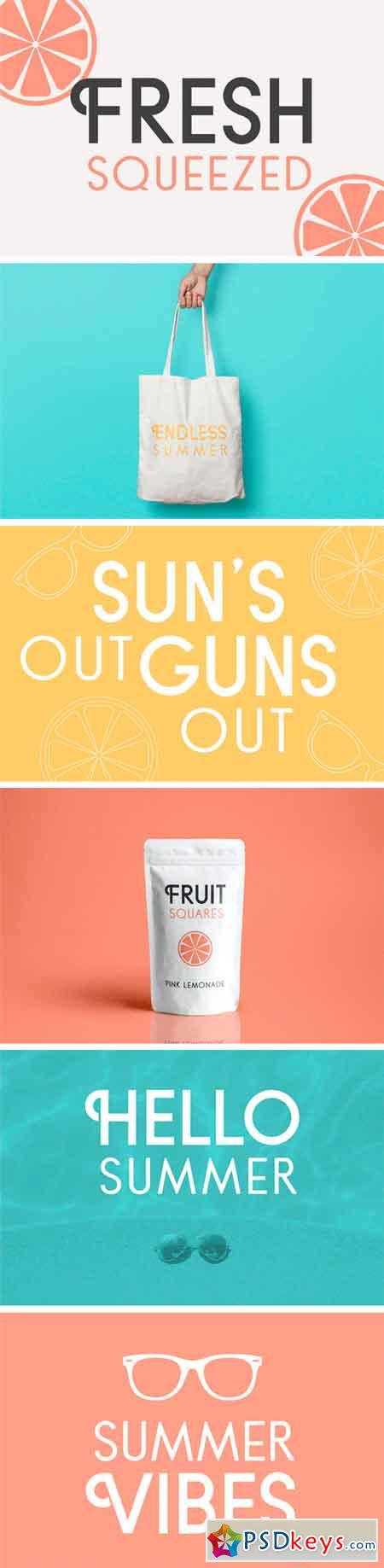 Fresh Squeezed Font Duo 1604515