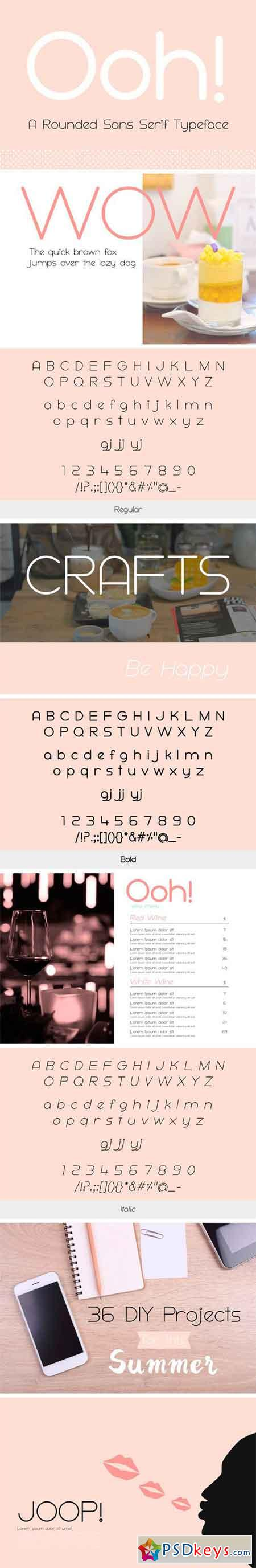 Ooh! Rounded Sans Serif Typeface 1603313