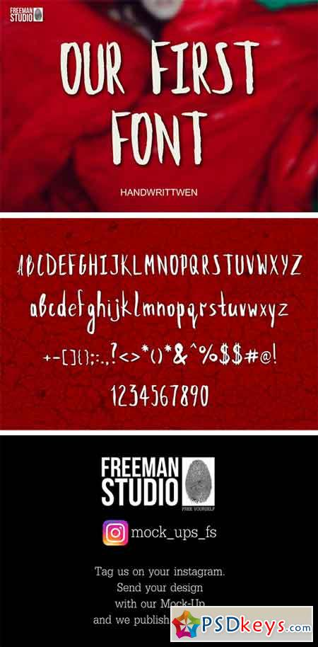 Our First Font 1602815