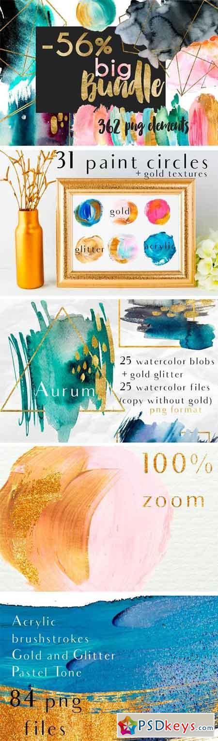 Watercolor Composition! Big Bundle 1516344