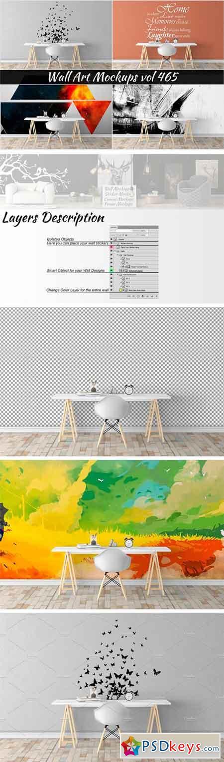 Wall Mockup - Sticker Mockup Vol 465 1501479