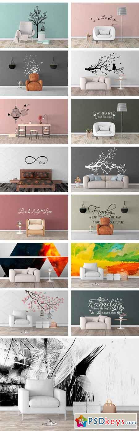 Wall Art Mockups BUNDLE V41 1480426