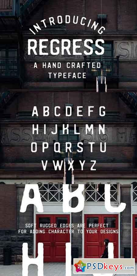 REGRESS - A hand crafted typeface 764016