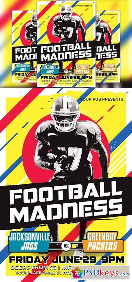 Football Madness Flyer Template 1559663 » Free Download
