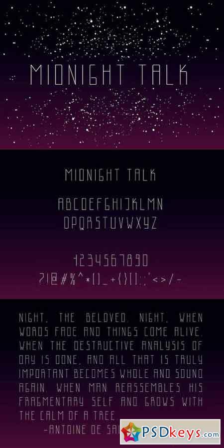 Midnight Talk Uppercaes Font 1545761