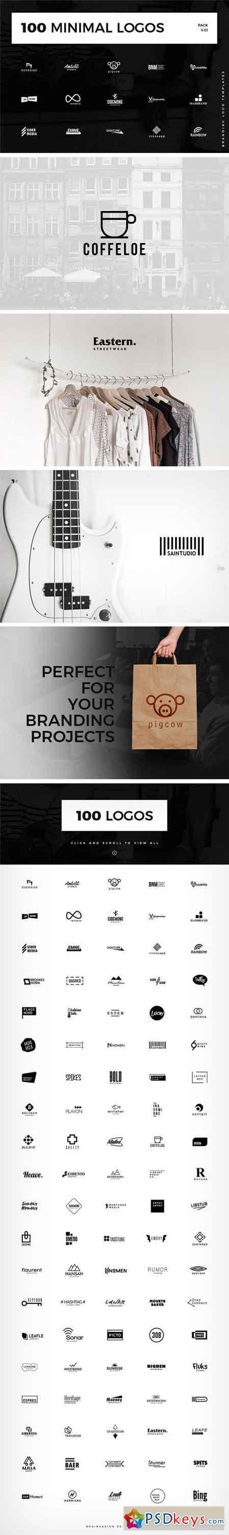 100 Minimal Logo Templates 1583827 » Free Download Photoshop