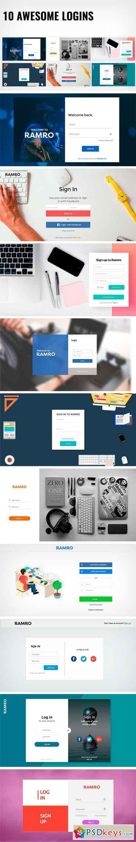 Ramro Web UI Kit - Login Signups 1582343